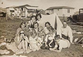 Tur til Karrebæksminde i 1935.